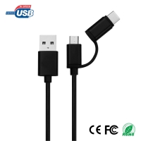 WML-US-2012 USB 2.0 Micro USB plus Type-C Data Cable